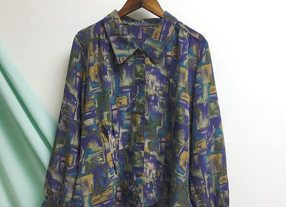 紫綠長袖恤衫