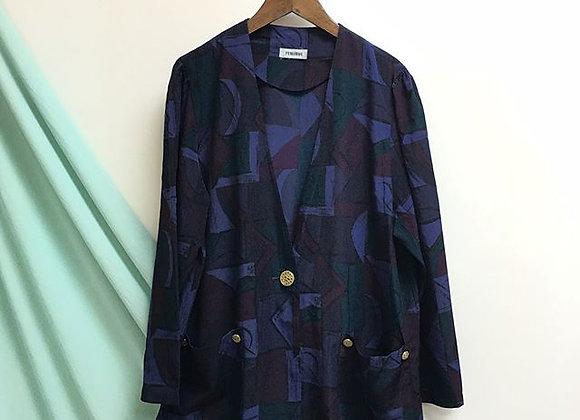 紫藍綠長袖外衣