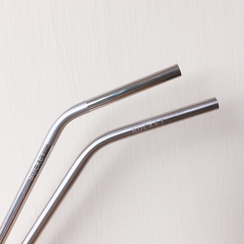 BUCKET SUS316L不鏽鋼飲管【連清潔刷】