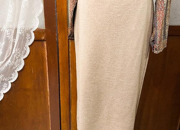 卡其針織窄身裙