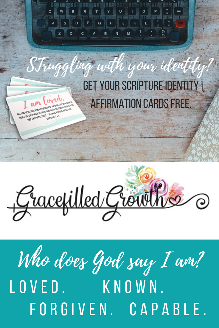 Affirmation cards. Biblical identity. 7 Scripture affirmations. Who I am in Christ.