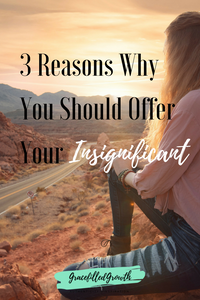 Ever feel like you want to make a difference, but you have nothing to offer? Here are 3 reason why you should offer your insignificant.