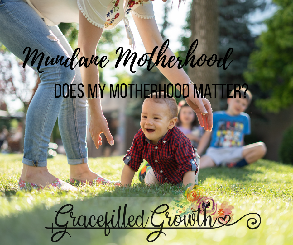 Mundane Motherhood. Motherhood for God's glory. Does my motherhood matter? Using the mundane. Everyday moments.