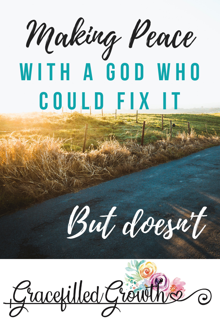 Trusting God when you don't understand. Making peace with a God who doesn't do what I want. Choosing faith amidst suffering. Why hasn't God healed my child?