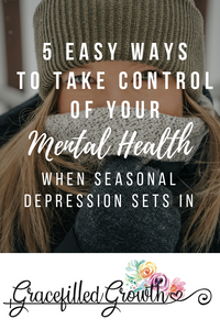 Seasonal Depression. 5 Easy ways to take control of your mental health. Fighting the winter blues. 5 practical tips to protect your mental health.
