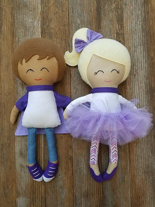Handmade Custom Epilepsy Awareness Doll
