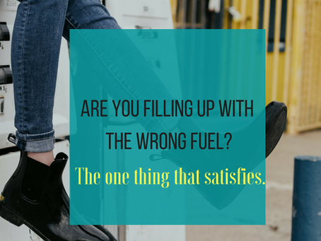 Are You Filling Up With The Wrong Fuel? Here's the one thing that satisfies.