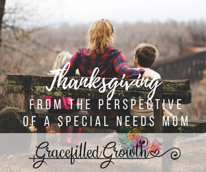 Thanksgiving. Special needs parenting. Gratitude. Motherhood. Parenting a medically fragile child. perspective.