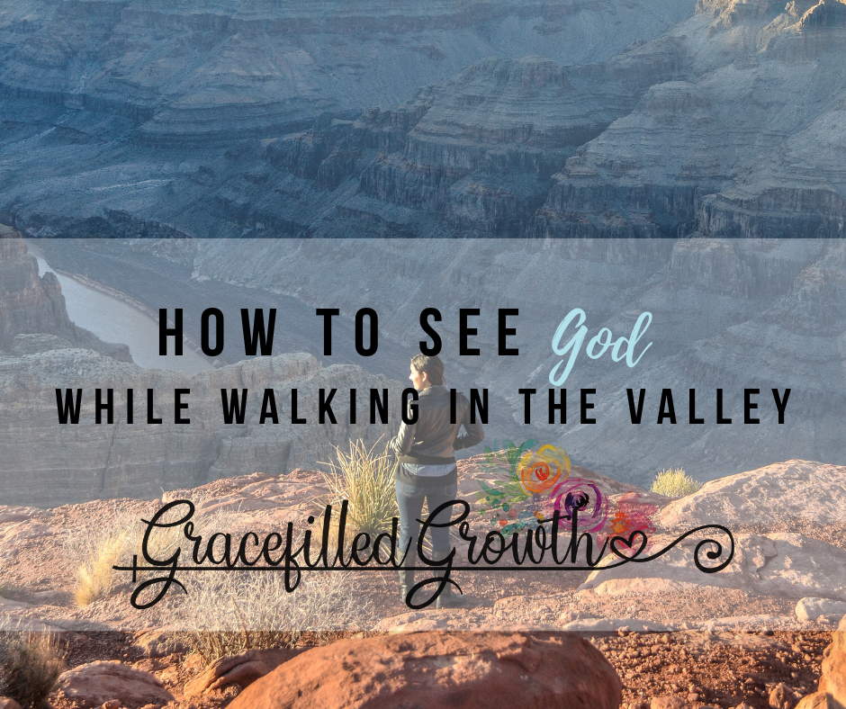 How to see God in the darkness. Where is God when I'm walking in valley? Psalm 23. Is God good?