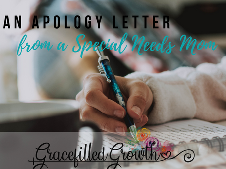 The apology of a Special Needs Mom