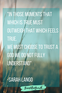 Trusting God when you don't understand. Faith amidst suffering. Why hasn't God answered my prayers? Where are you God?