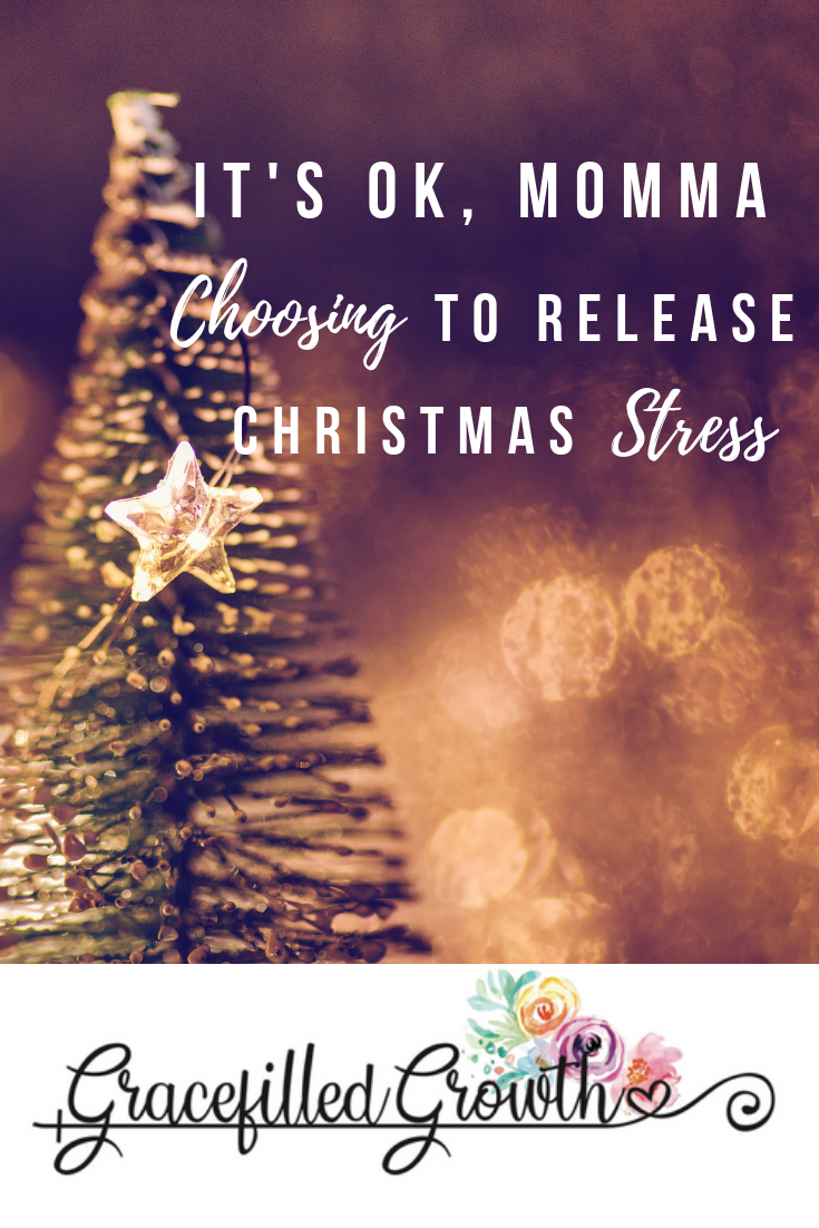 Holiday expectations. Releasing the weight of Christmas stress. Fixing our eyes on Christ. Motherhood.