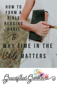 How to start a Bible study habit. How to form a Bible reading habit. Does quiet time matter? How to prioritize time with Jesus. Scripture. Why the Bible matters.