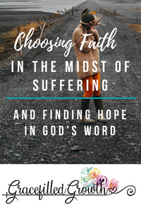 Trusting God when you don't understand. Choosing faith in the midst of suffering. Finding Hope in God's Word. Why hasn't God healed my child?