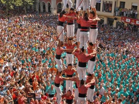 '독립' 위한 열망의 탑…'카탈루냐', '인간 탑 대회'