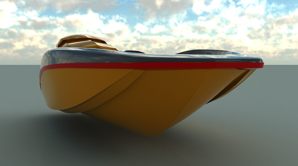 MCC's latest hull shape in concept for a Dubai Boatbuilder