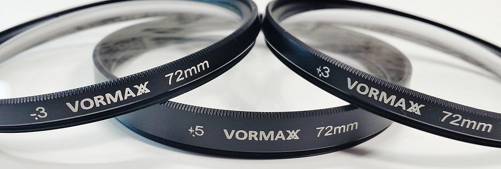 Diopters of Vormaxlens +0.5/+0.3/-0.5 72 mm