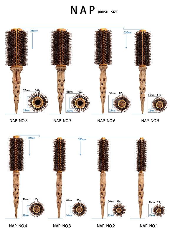 napブラシサイズ表