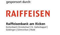 rotes Logo mit Schriftzug Raiffeisenbank