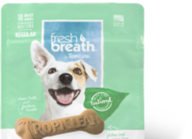 Tropiclean Fresh Breath Dental Chews For Dogs-Advanced Cleaning