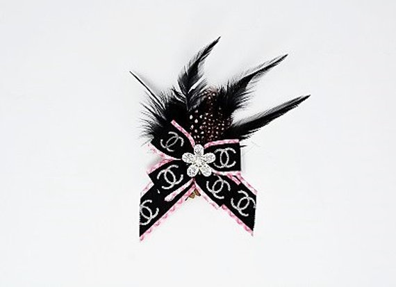 Chanel Feather Bow