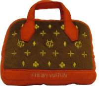 Chewy Vuiton Posh Purse (Red Trim) Small