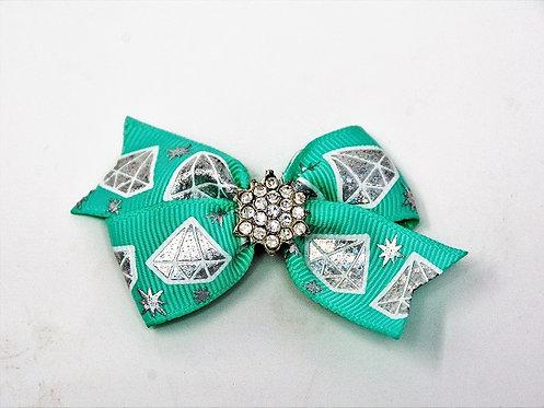 Baby Blue Diamond Bow