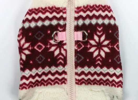 Soft Snowflake Fleece Vest Red