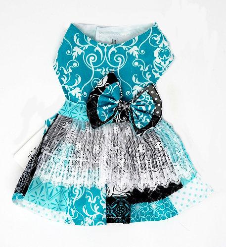 Turquoise Ruffle Dress