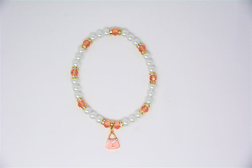 Chanel Pearl Necklace Pink