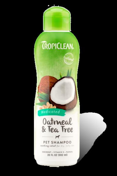 Tropiclean Dog Medicated Shampoo-Oatmeal and Tea Tree