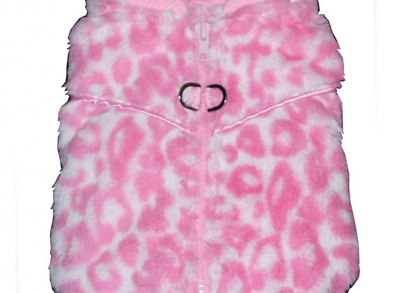 Pink Cheetah Zipper Sweater