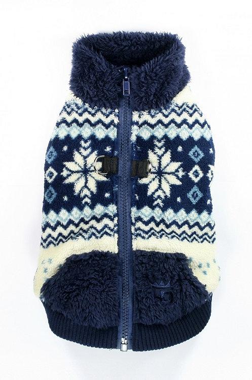 Soft Blue Snowflake Fleece Vest