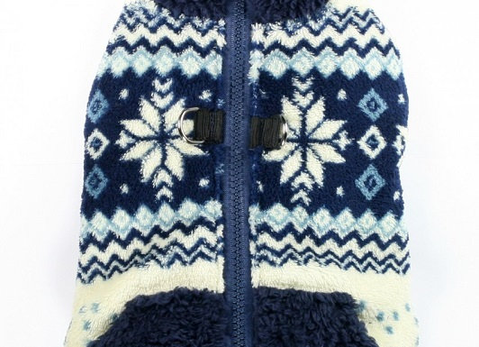 Soft Blue Snowflake Fleece Vest