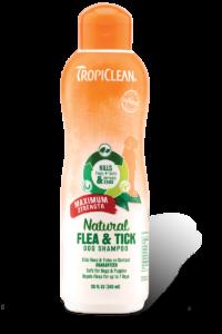 Tropiclean Natural Flea and Tick Dog Shampoo- Maximum Strength