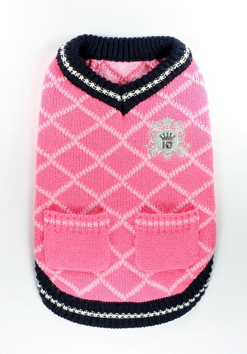 Royal Crest Sweater -Pink