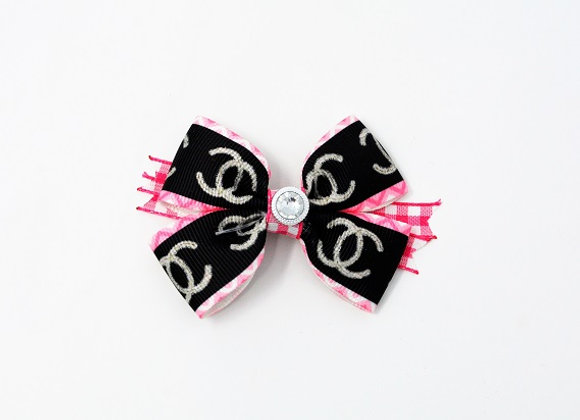 Chanel Black & Pink Bow