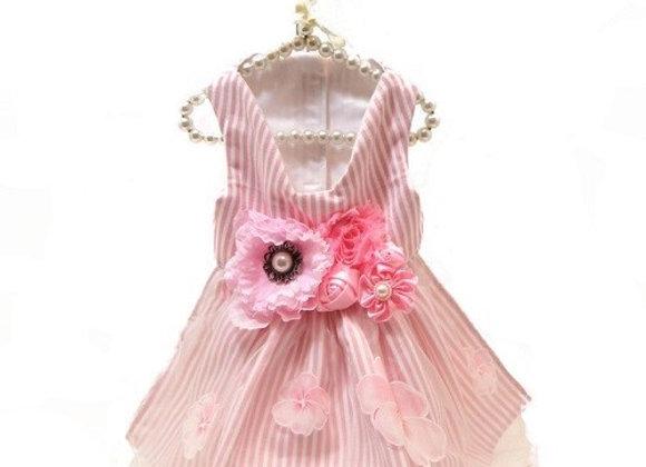 Classy Pink Flower Dress