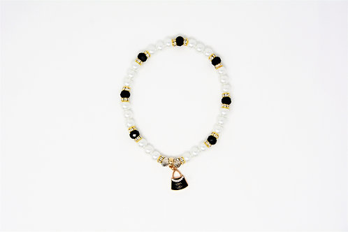 Chanel Pearl Necklace Black