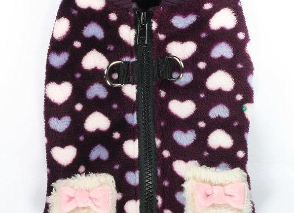 Purple Hearts Harness Sweater