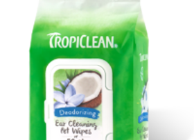 Tropiclean Ear Cleaning Pet Wipes-Deodorizing
