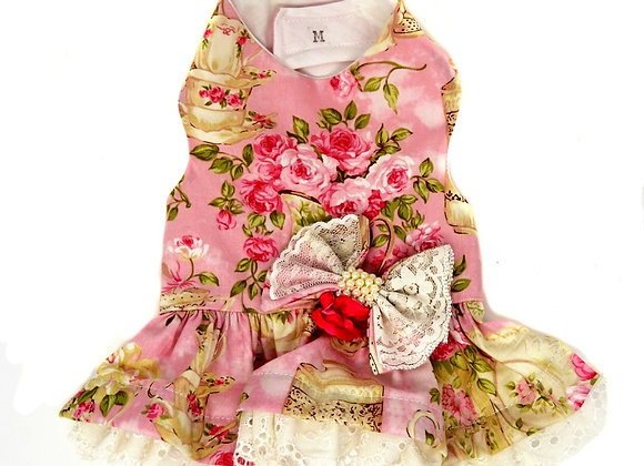 Vintage Dress in Pink with Ruffles