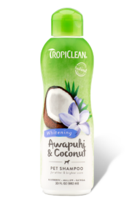 Tropiclean Pet Shampoo -Whitening Awapuhi and coconut