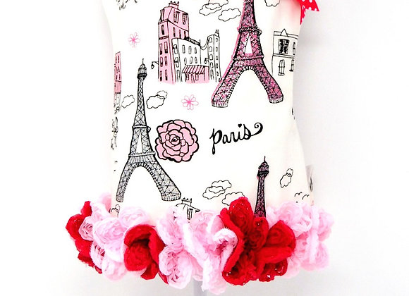Eiffel Tower Pink Ruffle Dress