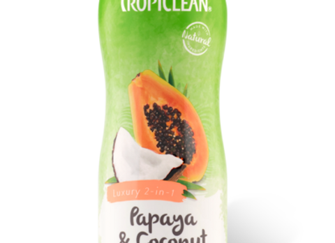 Tropiclean Dog Shampoo and Conditioner- Papaya and Coconut
