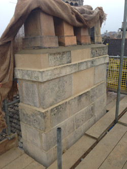 Chimney repointed