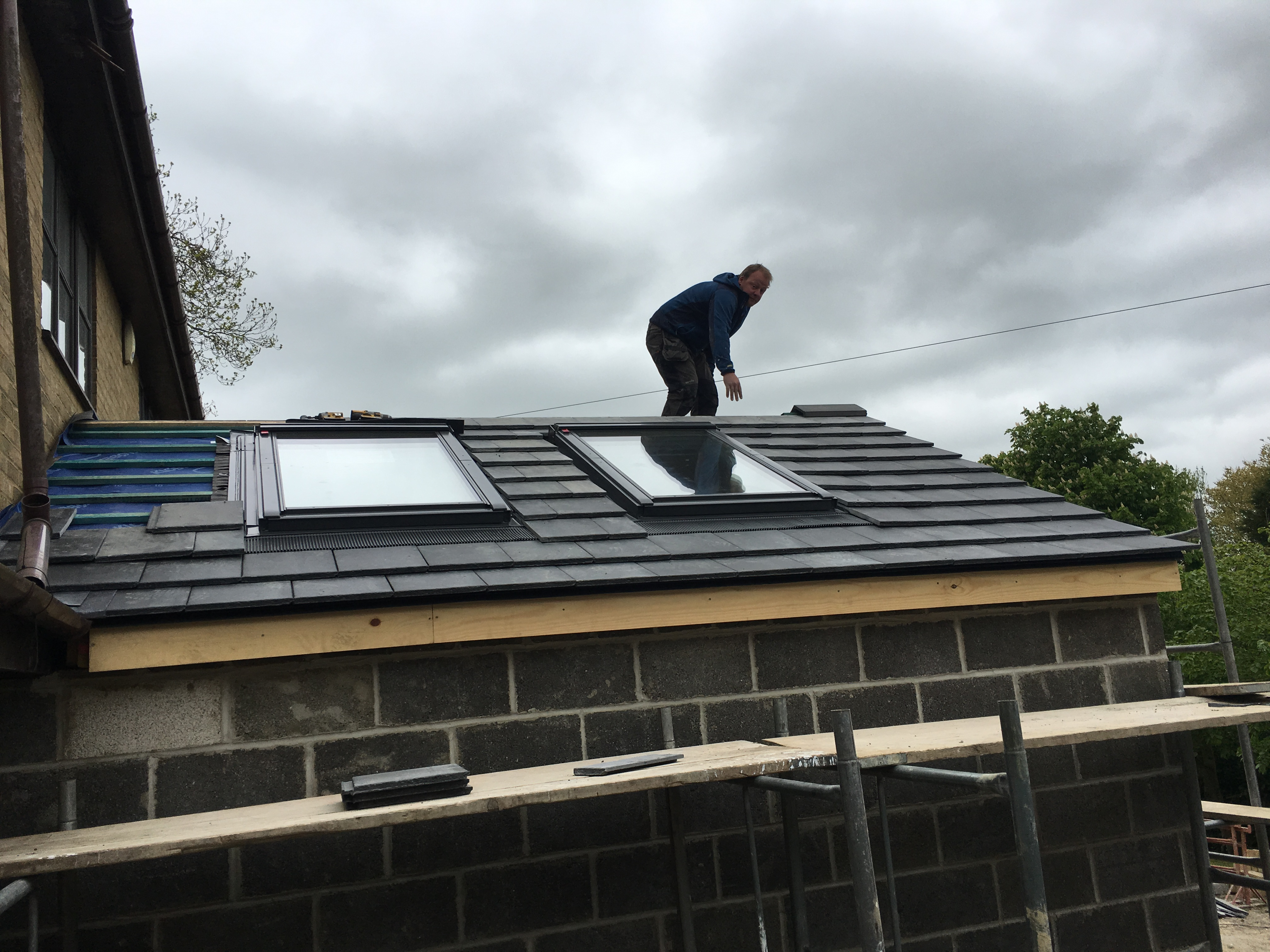 Velux windows installed
