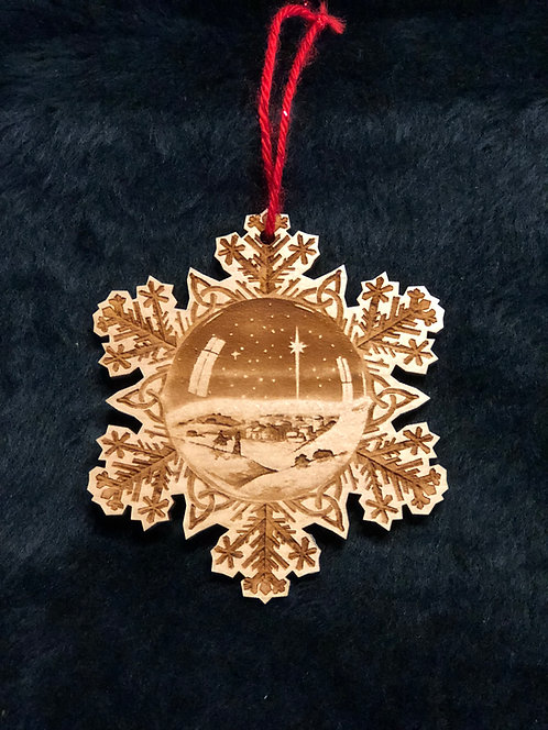 One Wintry Night Laser Cut Ornament by JRS