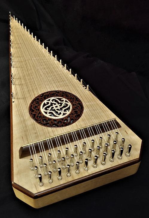 2 1/2 Octave Curly (fiddleback) Maple Bowed Psaltery