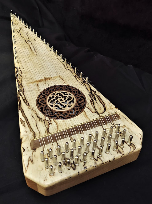 2 1/2 Octave Spalted (Ambrosia) Maple Bowed Psaltery